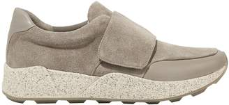 Vince Leather-trimmed Suede Slip-on Sneakers