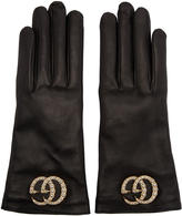 Gucci Black Gg Pearl Gloves