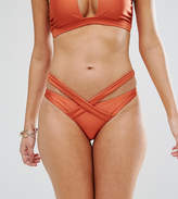 Wolfwhistle Wolf & Whistle High Shine Wrap Bikini Bottom