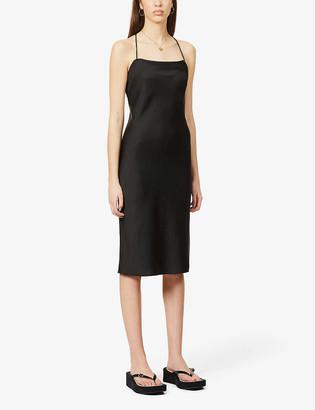 BA&SH Loulou sleeveless crepe midi dress