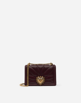 Dolce & Gabbana Small Devotion Side Bag In Matelasse Nappa Leather