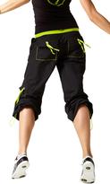 Zumba Logo Cargo Pants - Deep Black