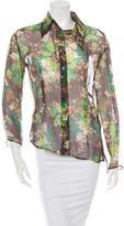 Dolce & Gabbana Silk Button-Up Blouse