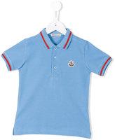 Moncler contrast trim polo shirt - kids - Cotton - 4 yrs