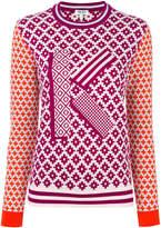 Kenzo K geometric intarsia jumper