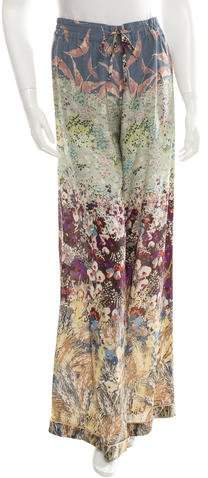 Valentino Silk Abstract Print Pants w/ Tags