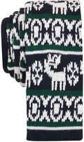 Bar III Men's Fair Isle Knit Slim Tie, Created for Macy's