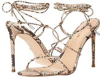 Steve Madden Winnie Harlow x Badgirl Heeled Sandal (Beige Snake) Women's Shoes