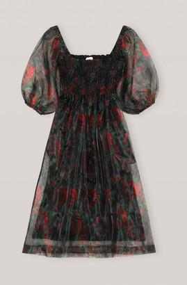 Ganni Organza Midi Dress