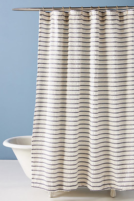 Anthropologie Woven Colby Shower Curtain By in Black Size 72 X 72