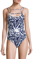 Mikoh Athens Front String Paneled Slip-On One Piece