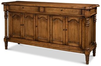 "Sarreid Ltd. Ashton 67"" Wide 2 Drawer Pine Wood Sideboard Color: Brown"