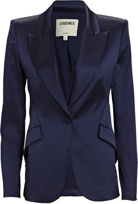 L'Agence Chamberlain Satin Suiting Blazer
