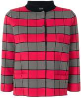 Emporio Armani cropped checkerboard jacket
