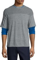 Opening Ceremony Double-Layer Thermal T-Shirt, Heather Gray/Multi