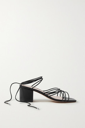 PORTE & PAIRE Woven Leather Sandals - Black