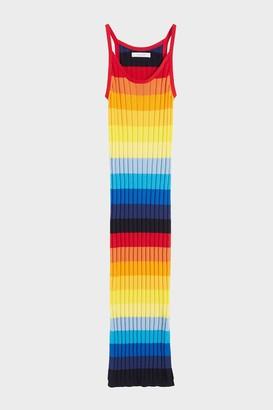 Parker Chinti & Rainbow Ombre Sunset Pointelle Maxi Dress