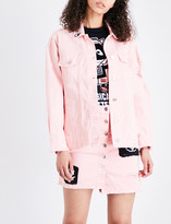 Mini Cream Patch-detail denim jacket
