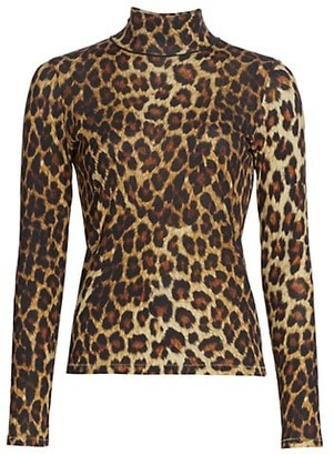 Rag & Bone Shaw Cheetah Print Turtleneck