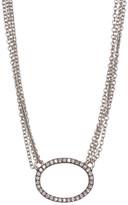 Freida Rothman CZ Pave Ring Multi-Chain Necklace