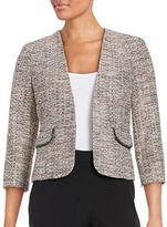 Nipon Boutique Tweed Open-Front Blazer