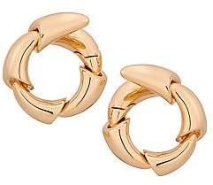 Vhernier Women's Calla 18K Rose Gold & Titanium Wraparound Hoop Earrings