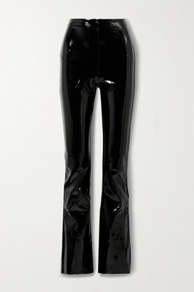 Commando Stretch Faux Patent-leather Flared Pants - Black