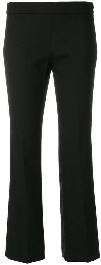 Incotex cropped flared trousers