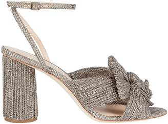 Loeffler Randall Camellia Pleated Bow Front Sandals