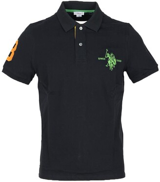 U.S. Polo Assn. Black Pique Cotton Men's Polo Shirt