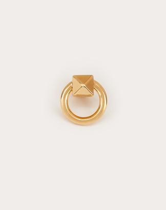 Valentino Ringstud Single Earring Women Gold Brass 100% OneSize