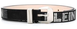 Philipp Plein crystal embellished belt