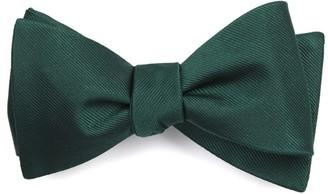Tie Bar Grosgrain Solid Hunter Bow Tie
