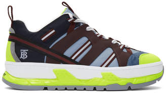 Burberry Blue and Yellow Union Sneakers