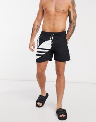 adidas Big Trefoil swim shorts in black