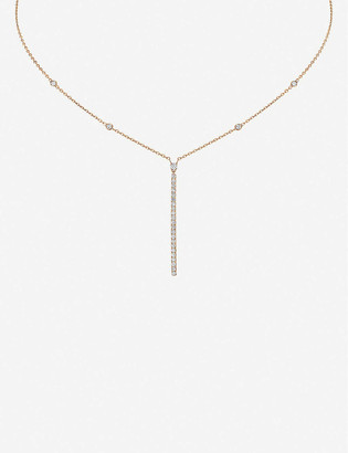 Messika Gatsby 18ct rose-gold and diamond necklace