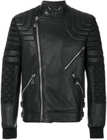 Philipp Plein panel jacket - men - Sheep Skin/Shearling/Polyamide - L