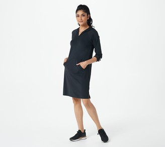 AmberNoon II by Dr. Erum Ilyas Petite SunSnug UPF 50 Hooded Knit Dress