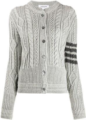 Thom Browne Aran cable-knit cardigan
