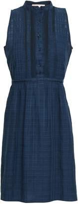 Vanessa Bruno Igera Lace-trimmed Embroidered Cotton-blend Mini Dress