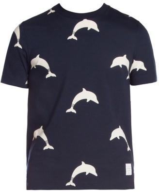 Thom Browne Dolphin-Print Jersey Tee