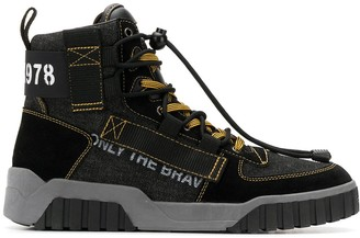 Diesel high top quick-locking toggle sneakers