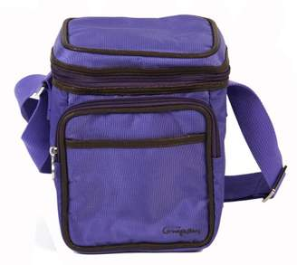 Little Company pp14.26 Pretty Purple Cooling Cooler Warmer Box Bag - Purple, Dark Brown (Purple Dark Brown)