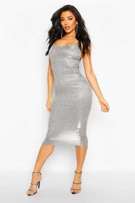 boohoo Sparkly Strappy Maxi Dress