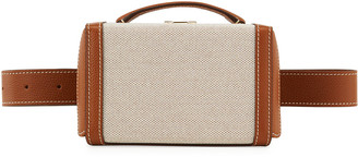 Mark Cross Grace Leather/Cotton Box Belt Bag