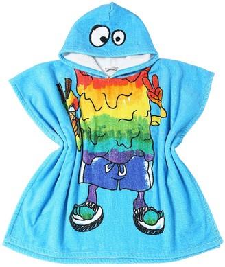 Stella Mccartney Kids Hooded Cotton Terry Beach Towel