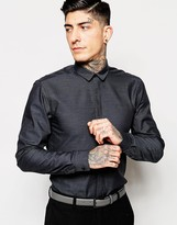 Minimum Smart Shirt With Covered Placket