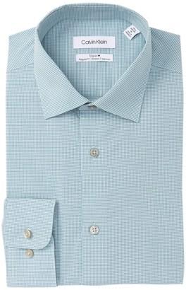 Calvin Klein Mini Check Regular Fit Dress Shirt