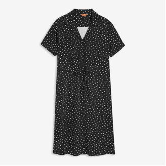 Joe Fresh Women+ Button-Front Dress, Black (Size 1X)