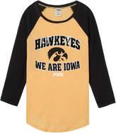 PINK University of Iowa Bling Perfect Baseball Tee